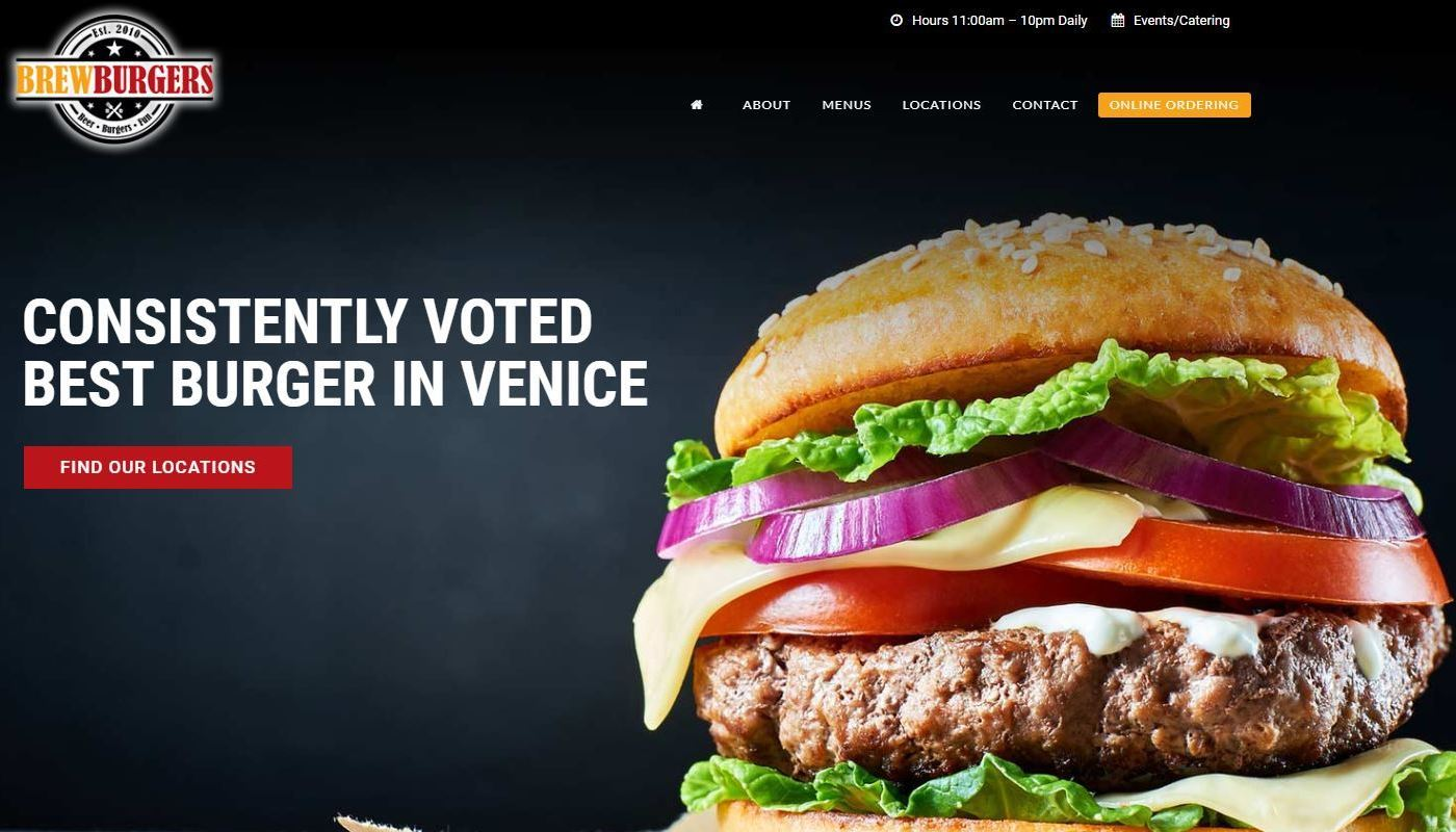 Brewburgers WordPress Website Design Enfield CT