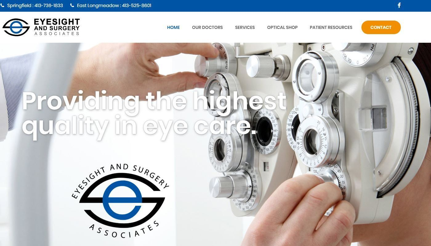 Eyesight Surgery WordPress Website Design Springfield MA