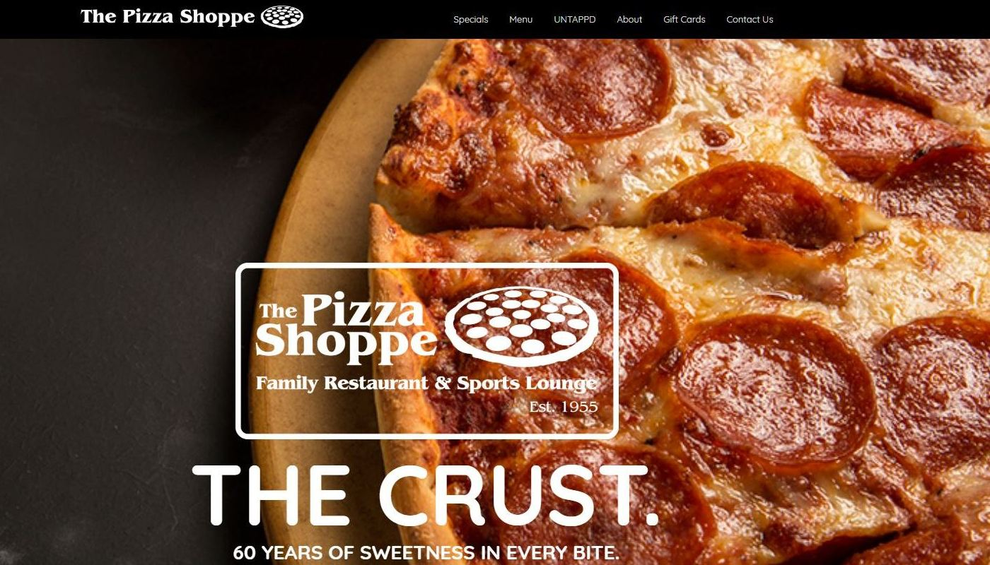 Pizza Shoppe WordPress Website Design East Longmeadow MA