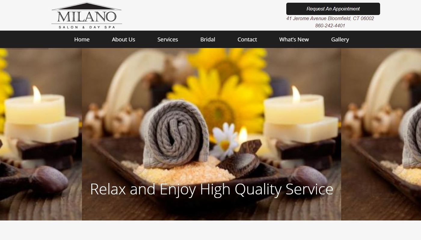 Milano Day Spa Bloomfield CT